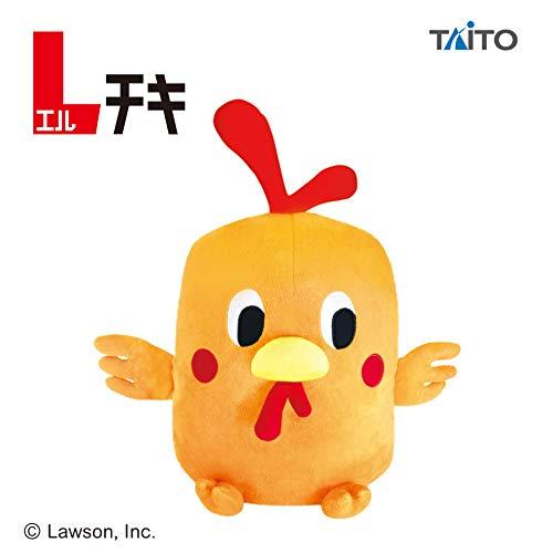 _Lチキ_特大サイズ ぬいぐるみ エルチキンちゃん ローソン からあげクン 全長約43cm とり チキン TAITO 非売品 タグ付