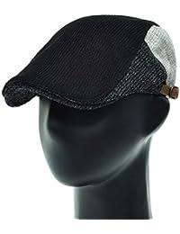 [PLIC N PLOC]EMH14. 3カラー配色ニットメンズベレー帽 ハンチング フラットキャップ帽子 鳥打ち帽 春 秋