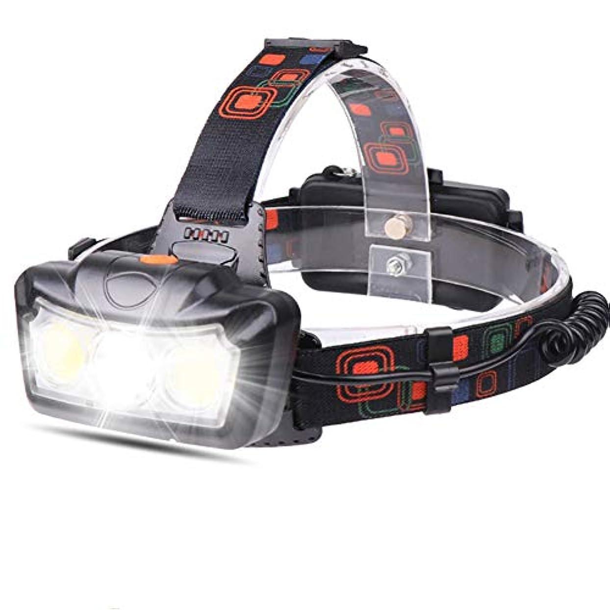 羨望夢傾斜ヘッドランプ、防水充電式LEDヘッドランプ、XML T6 + 2 * COB LED、90°調整可能IPX6防水家庭用アウトドアキャンプハイキングランニングフィッシング