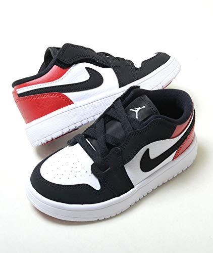 cheap for discount 45eed 6e0d1  ナイキ   16cm-22cm  AIR JORDAN 1 LOW ALT PS エア ジョーダン 1 ロー ALT PS  ホワイト×ブラック×レッド 紐ゴム キッズ 子供靴 ス.