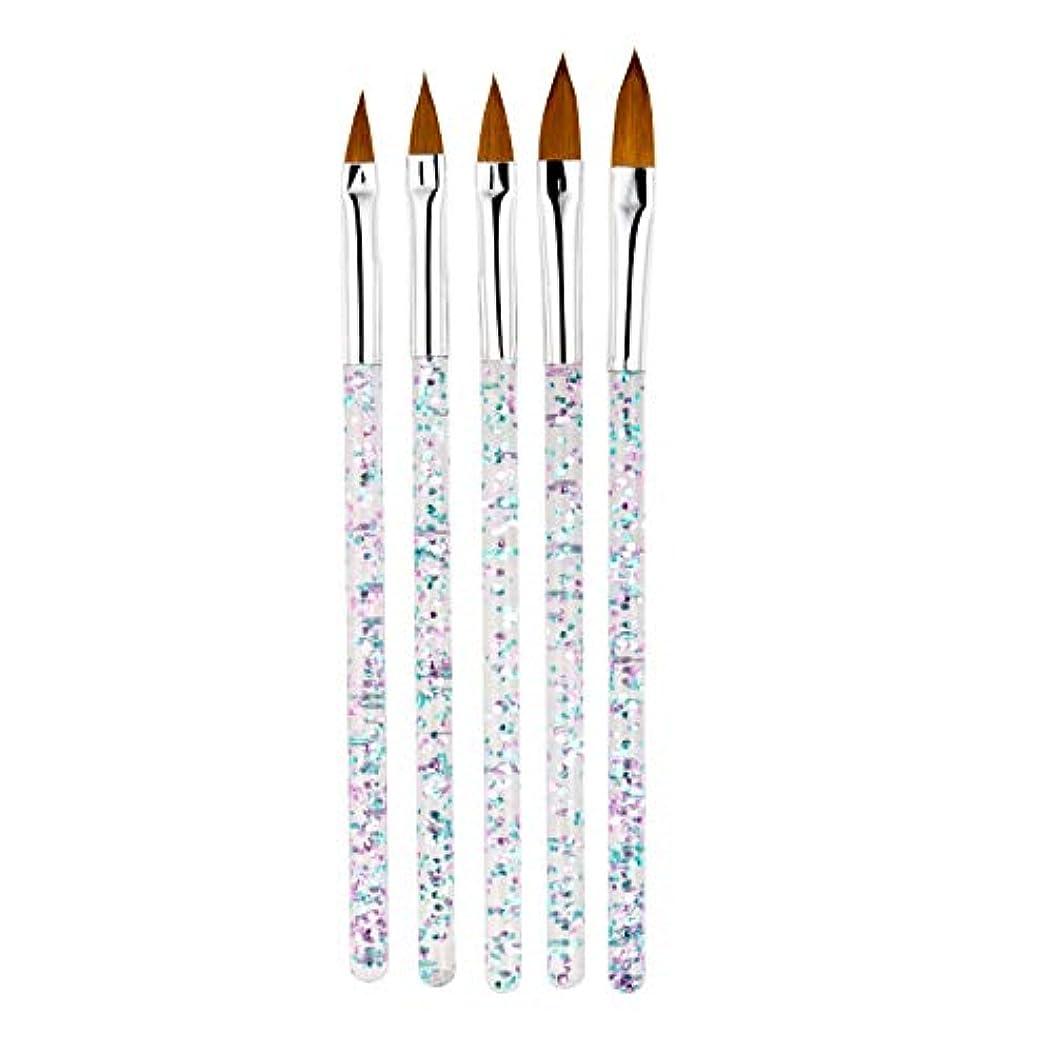 アリーナ計算可能宿命TOOGOO 5本/セット、11/13/15/17/19Mm ネイルアート水晶ブラシ、Uvジェルのビルダー、絵画用ドットペン、彫刻、先端、マニキュア、サロンのツール