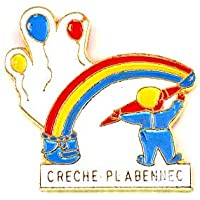 限定 レア ピンバッジ 赤ちゃん保育園ラルクアンシエル虹と風船 ピンズ フランス