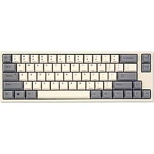 LEOPOLD 静電容量無接点スイッチ採用コンパクトキーボード 英語ASCII配列66キー ホワイト FC660C/EW