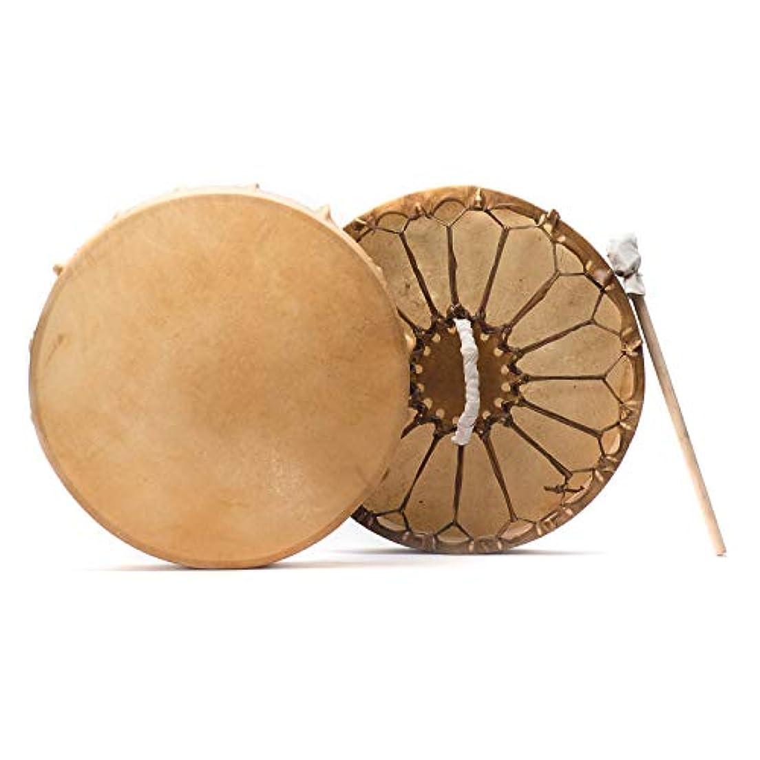 ミュート噴出するペルセウスShamans市場ネイティブアメリカンスタイルBuffalo Hideフレーム手ドラム18 in