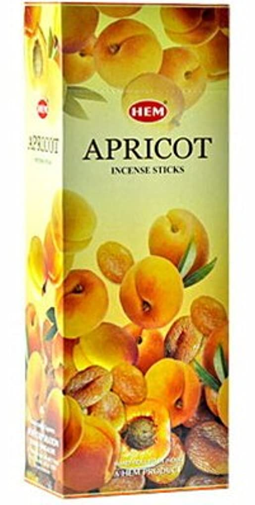 申し立てられた置くためにパック勝者HEM(ヘム)社 アプリコット香 スティック APRICOT 6箱セット