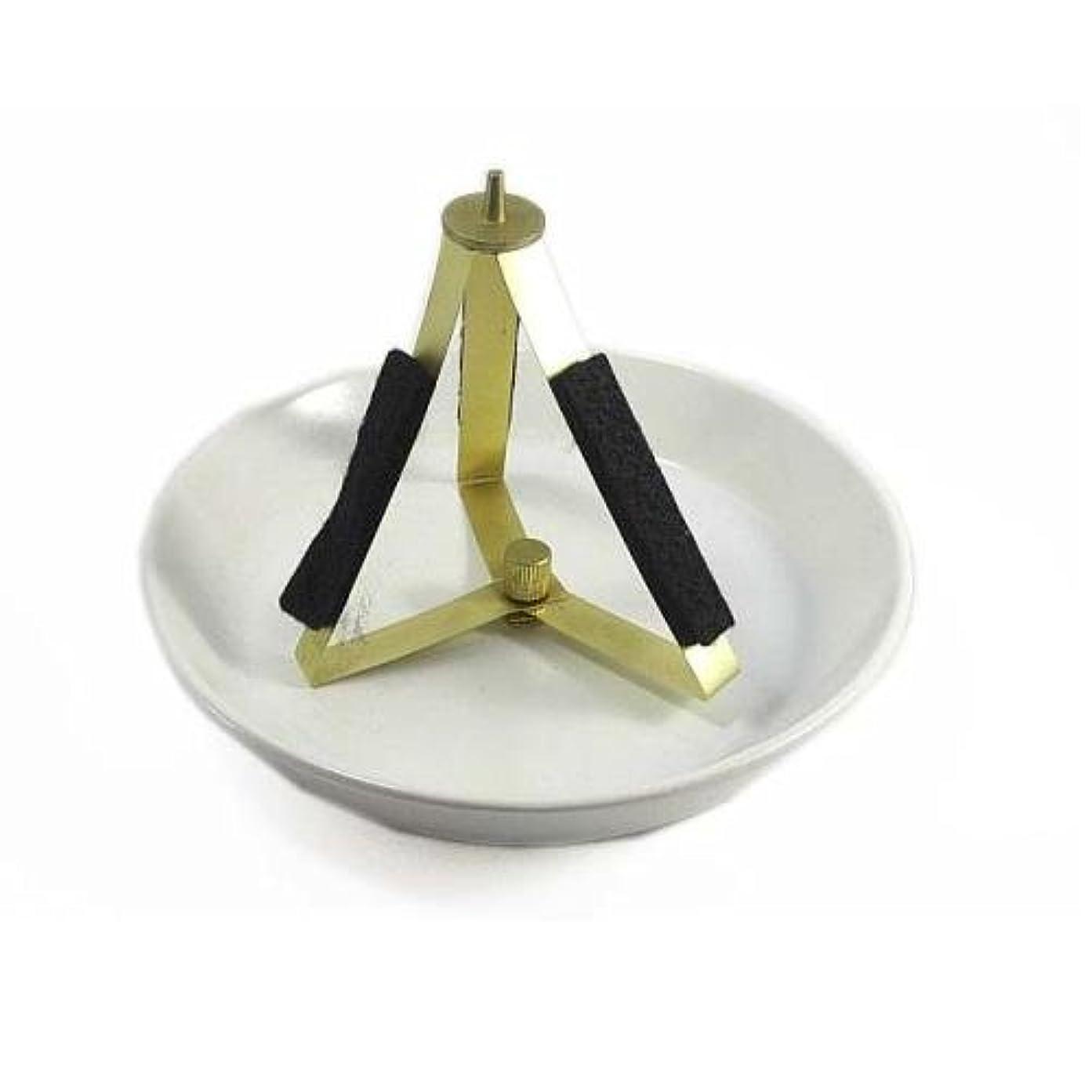 どういたしましてより平らな上流のうずまき用陶製置き台 法喜