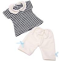 Dovewill 18インチアメリカガールドール人形用 ストライプ シャツ ズボン ドレスアップ