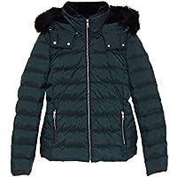 Zara Women Hooded Down Puffer Jacket 8073/223 Green