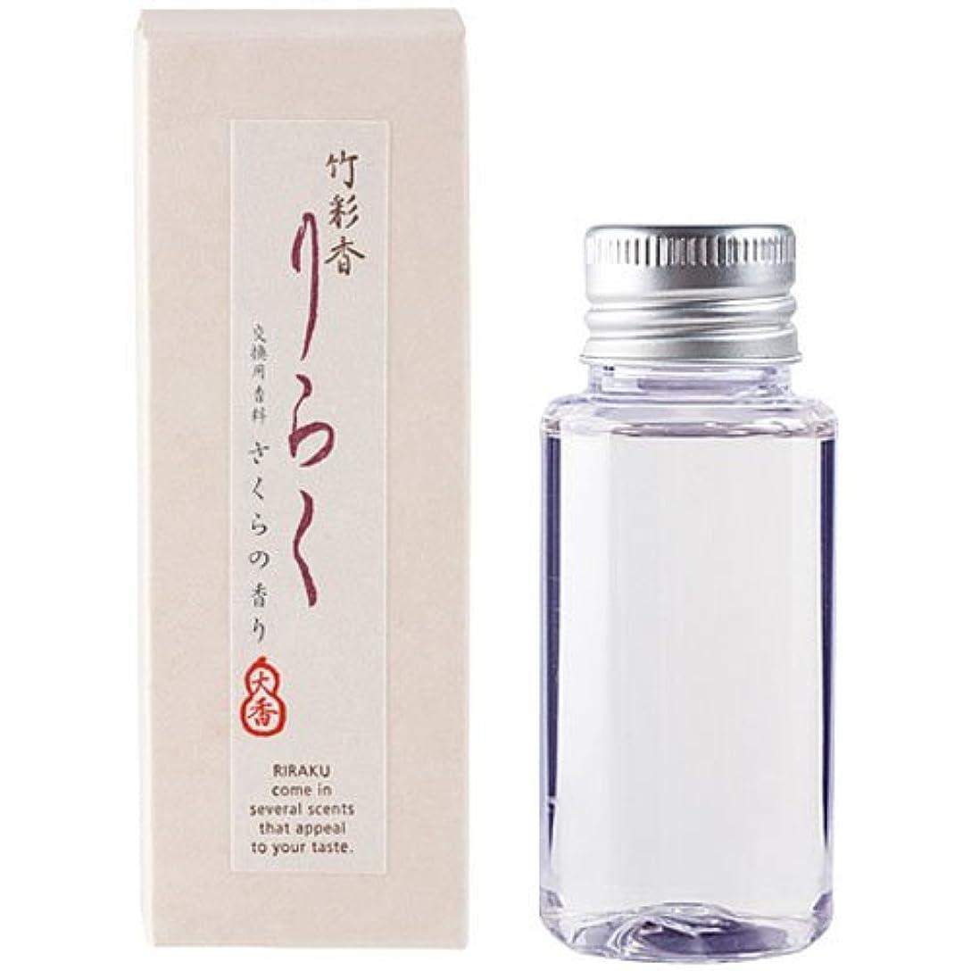膨張する引き算レンズ竹彩香りらく 交換用香料さくら 50ml