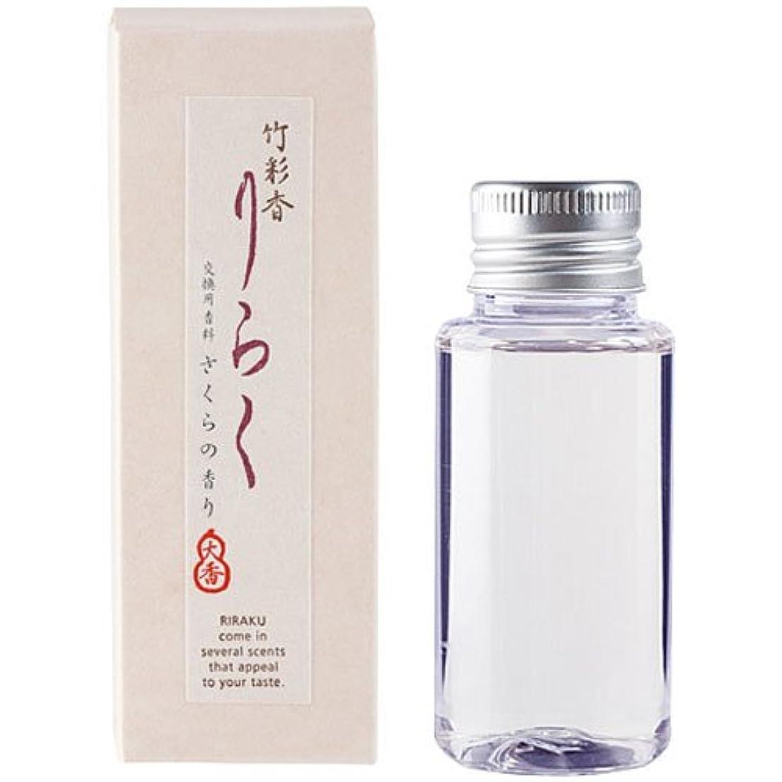 列車ワックス居間竹彩香りらく 交換用香料さくら 50ml