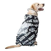 COLOGO犬レインコート ポンチョ 中型犬 大型犬 ライフジャケット ペット用 雨具 防水 おしゃれ 犬用合羽 梅雨 汚れ防止 濡れない(ブラック、3XL)
