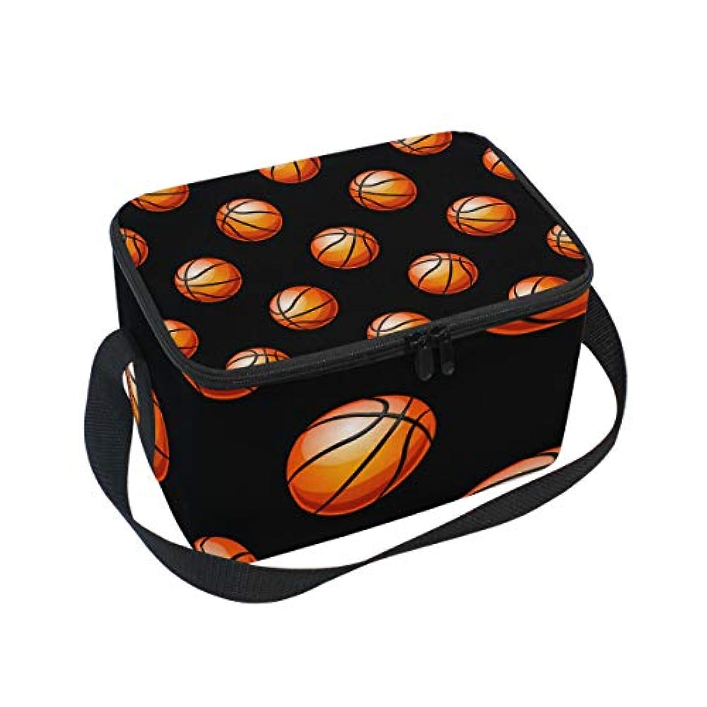 バンガローつづり最大化するクーラーバッグ クーラーボックス ソフトクーラ 冷蔵ボックス キャンプ用品 バスケットボール柄 黒背景 保冷保温 大容量 肩掛け お花見 アウトドア
