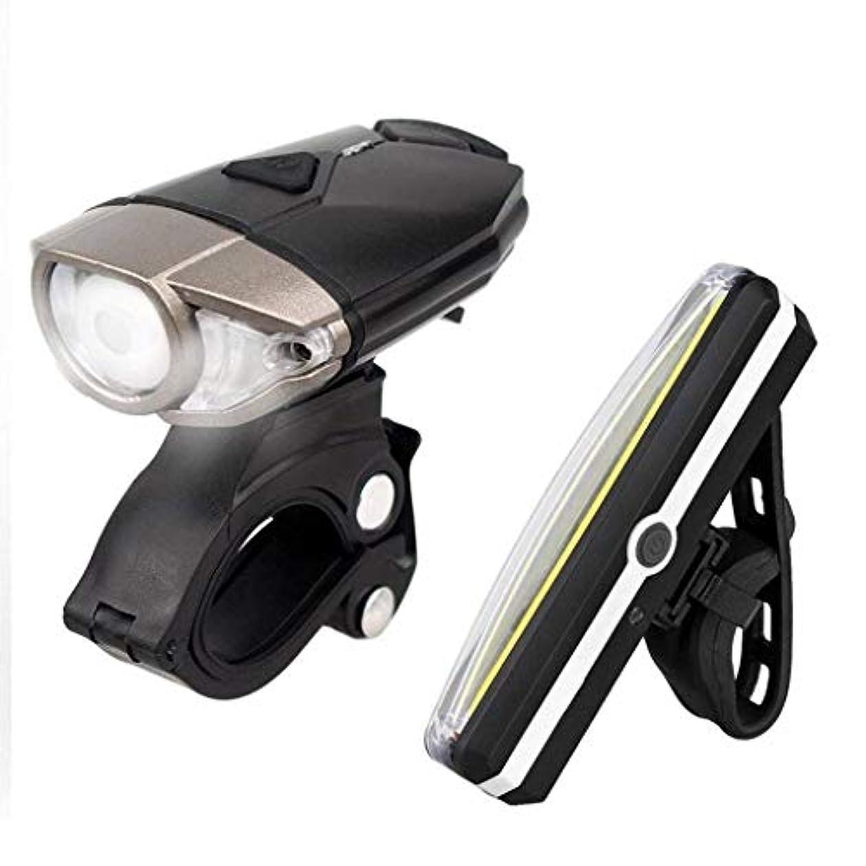 ファックスパラメータに沿って自転車ライトセットUSB充電式、ハイライトルーメンLED自転車ライトヘルメットライト、自転車ヘッドライトセーフティテールライトセット