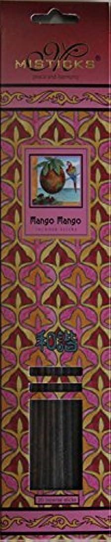 追う晩ごはん部分的にMisticks ミスティックス Mango Mango マンゴマンゴ お香 20本入
