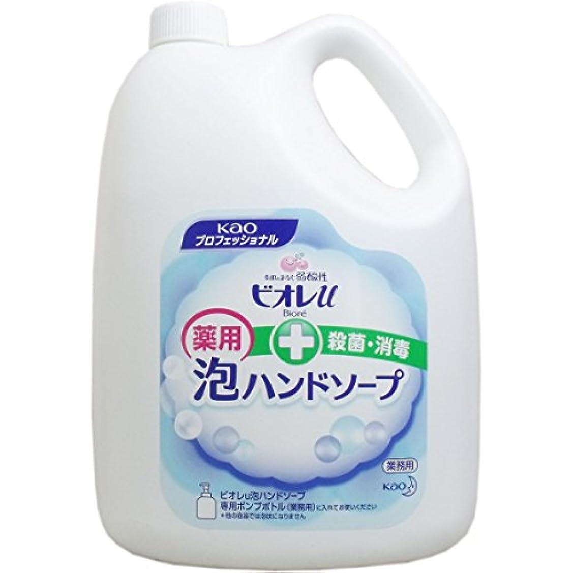 (まとめ) 花王 ビオレu 泡ハンドソープ マイルドシトラスの香り 業務用 4L 1本 【×2セット】