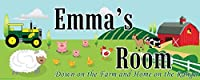 Mona Melisa Designs Customized Farm Emma Name Sign Decorative Wall Sticker [並行輸入品]