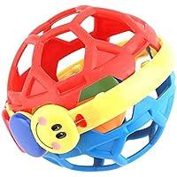 GLOGLOW キッズ ベンディボール ラトル おもちゃ 赤ちゃん 乳児 ソフト 柔軟 プラスチック スクイーズ 握り棒 ロール