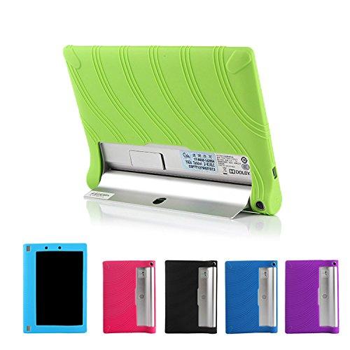 Lenovo yoga tablet 2 10 ケース 耐衝撃 シリコンケース 10インチ 軽量/薄/シリコン ブックカバータイプ レノボ ヨガタブレット2 ケース YOGA210-P52-T50608 (グリーン)