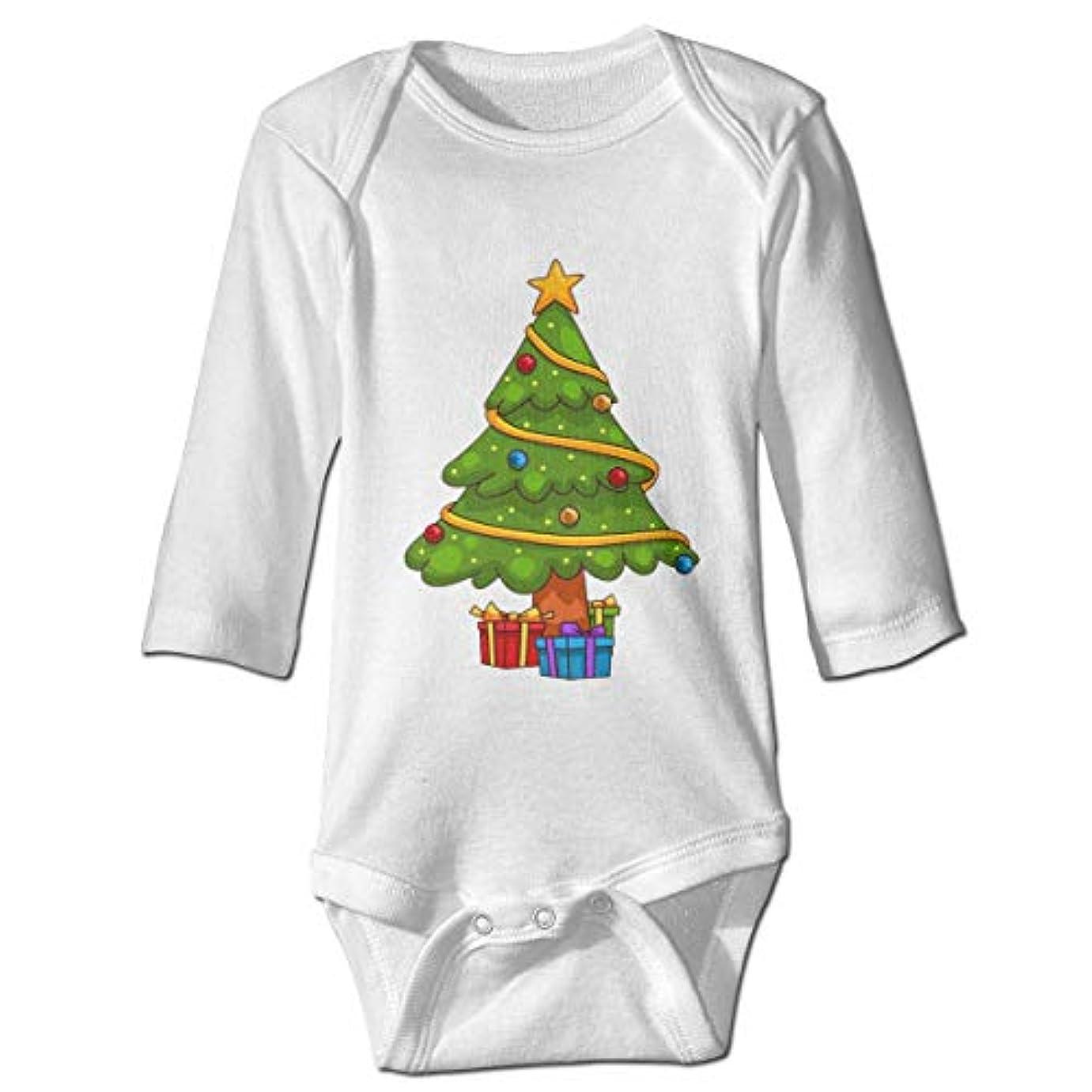 隣接するかすれた商品NMDJC CCQクリスマスツリーギフトベビーボディスーツユーモアワンシー快適な衣装コスチューム、2T