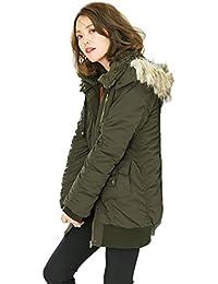 中綿あったかモッズコート レディース アウター 中綿コート 軽量 防寒 トップス 秋冬 シンプル 女性用 フード 大きいサイズ