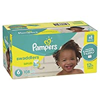 Pampers Swaddlers Disposable Diapers Size 6 108 Count [並行輸入品]
