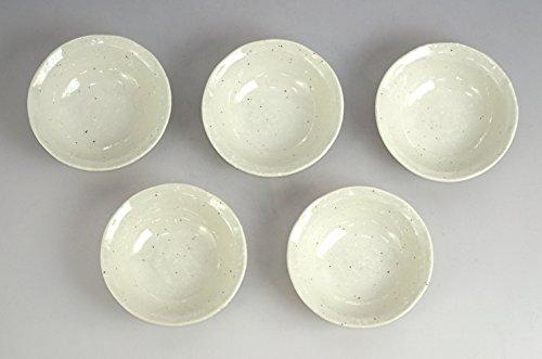 みのる陶器 雪粉引 クラフト3.3寸浅鉢 5個セット 033-716327