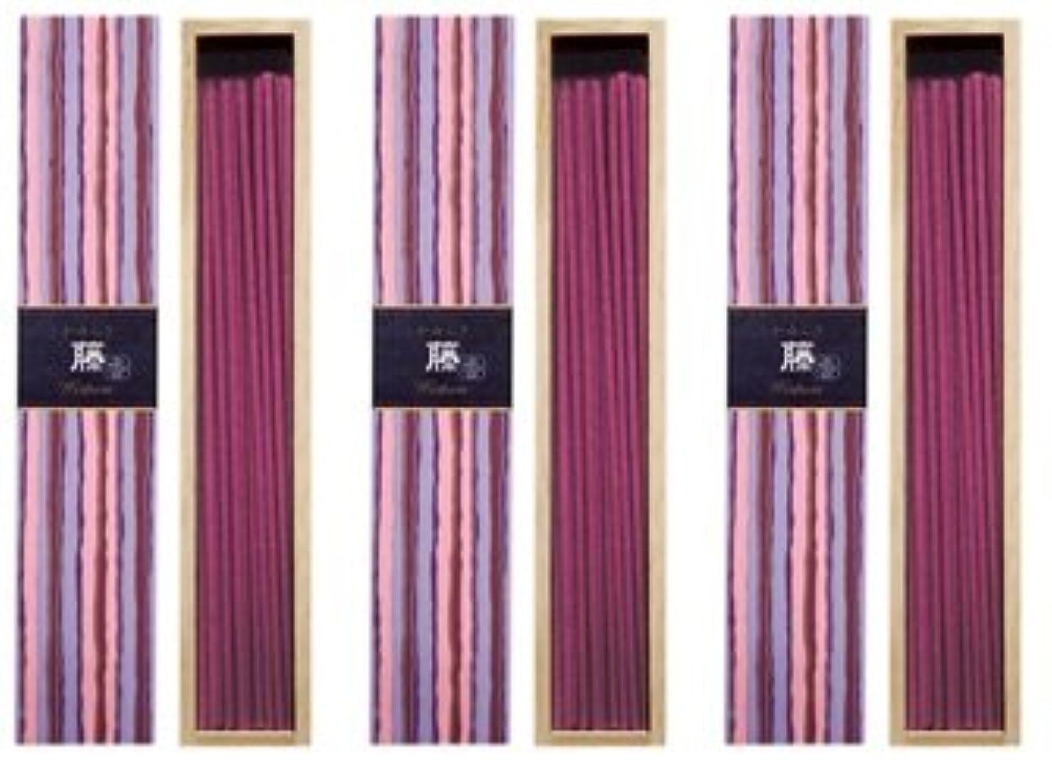 研磨魅了する蒸発する日本香堂 かゆらぎ 藤 スティック40本入 3箱セット