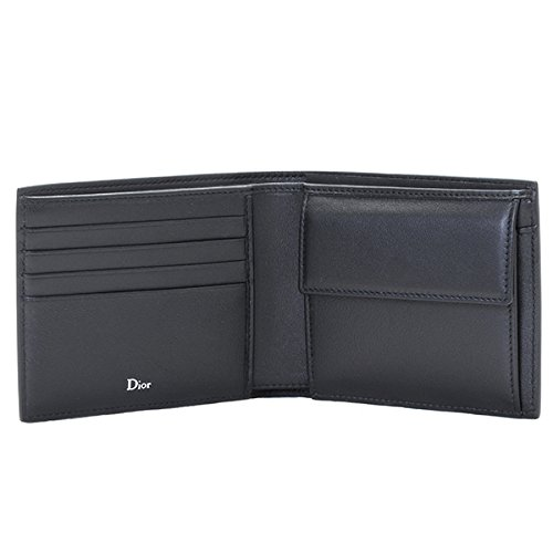 89c9a8b439df DIOR HOMME(ディオール・オム) 財布 メンズ LEATHER 2つ折り財布 ブラック 2ABBC027-XXT-00N [並行輸入品]