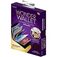 BeeShop(TM) New Original Wonder Wallet Amazing Slim RFID Wallets As Seen on TV Black Leather