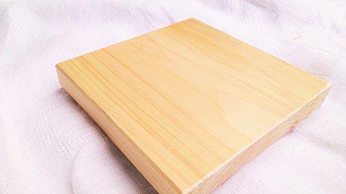ひのき 板材・国産桧、長さ12cm×幅12cm×厚1.5cm フシなし