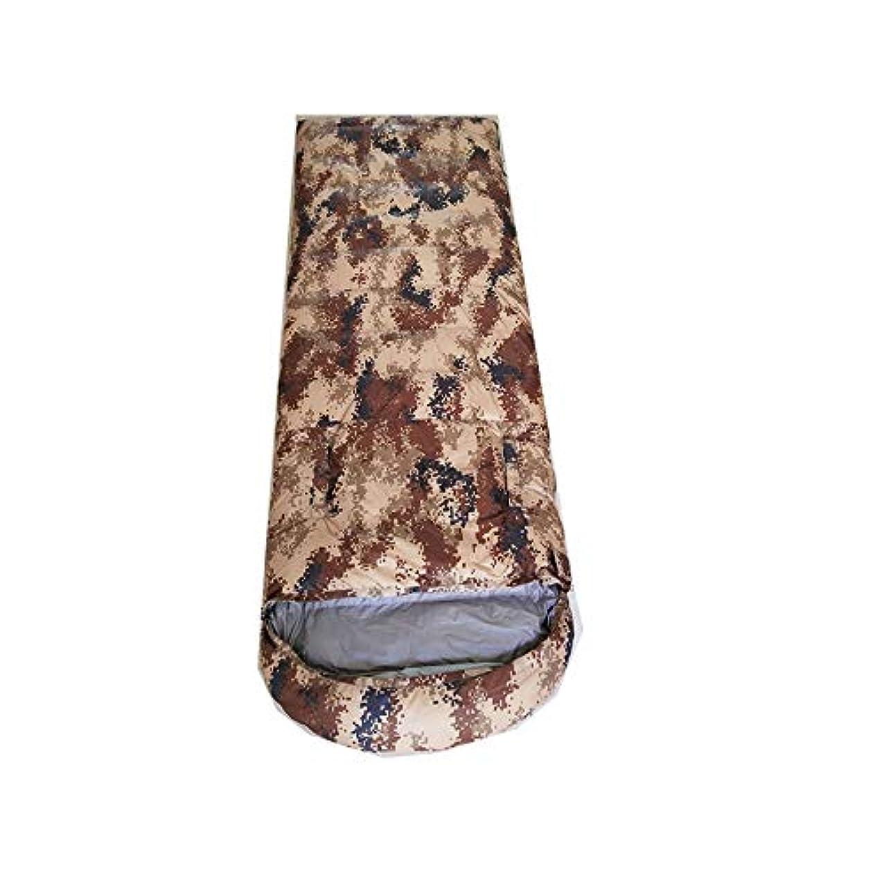 治す副産物恥ずかしさフォーシーズンは寝袋に腰を下ろすことができますアダルトアウトドアウィンターキャンプウルトラライトインドアダックダウンスリーピングバッグシングルファイトダブルライニング2500gダックダウン (色 : Desert camouflage)