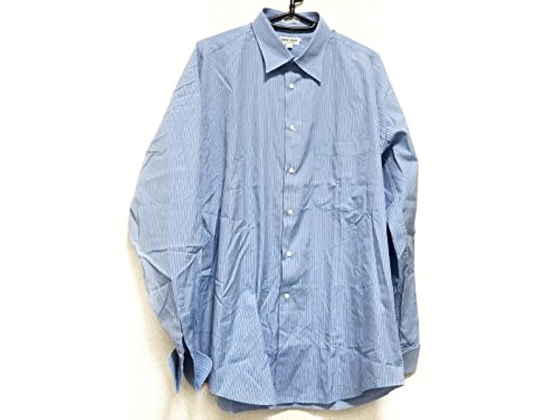共産主義ポルノコンサルタント(ジョルジオアルマーニ) Giorgio Armani シャツ 長袖シャツ メンズ ライトブルー×ブルー×白 【中古】