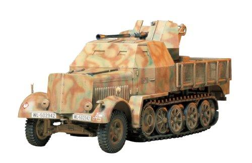 1/35 ミリタリーミニチュシリーズ No.144 ドイツ 機甲 8トンハーフトラック 3.7cm 対空機関砲 37型搭載 ブラックザウリア 35144