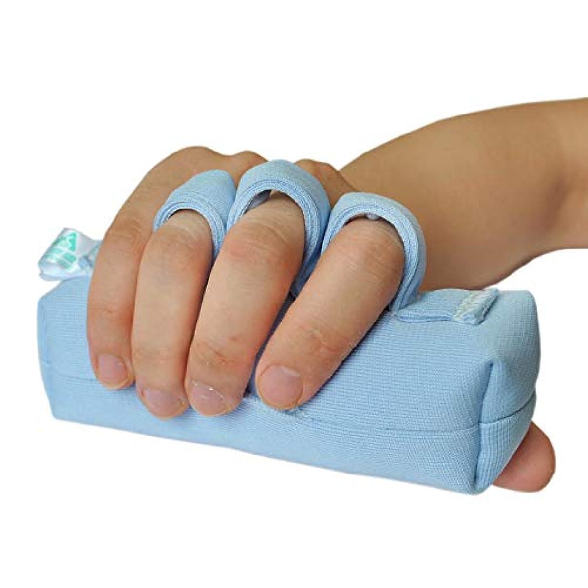 懲戒ダウン突っ込む右手または左手の手のひらプロテクター、手の包帯のサポート/術後のリハビリテーション/指の挫傷パッド/手のひらの指の分割バー/高齢者介護/涙防止ハンドスティック