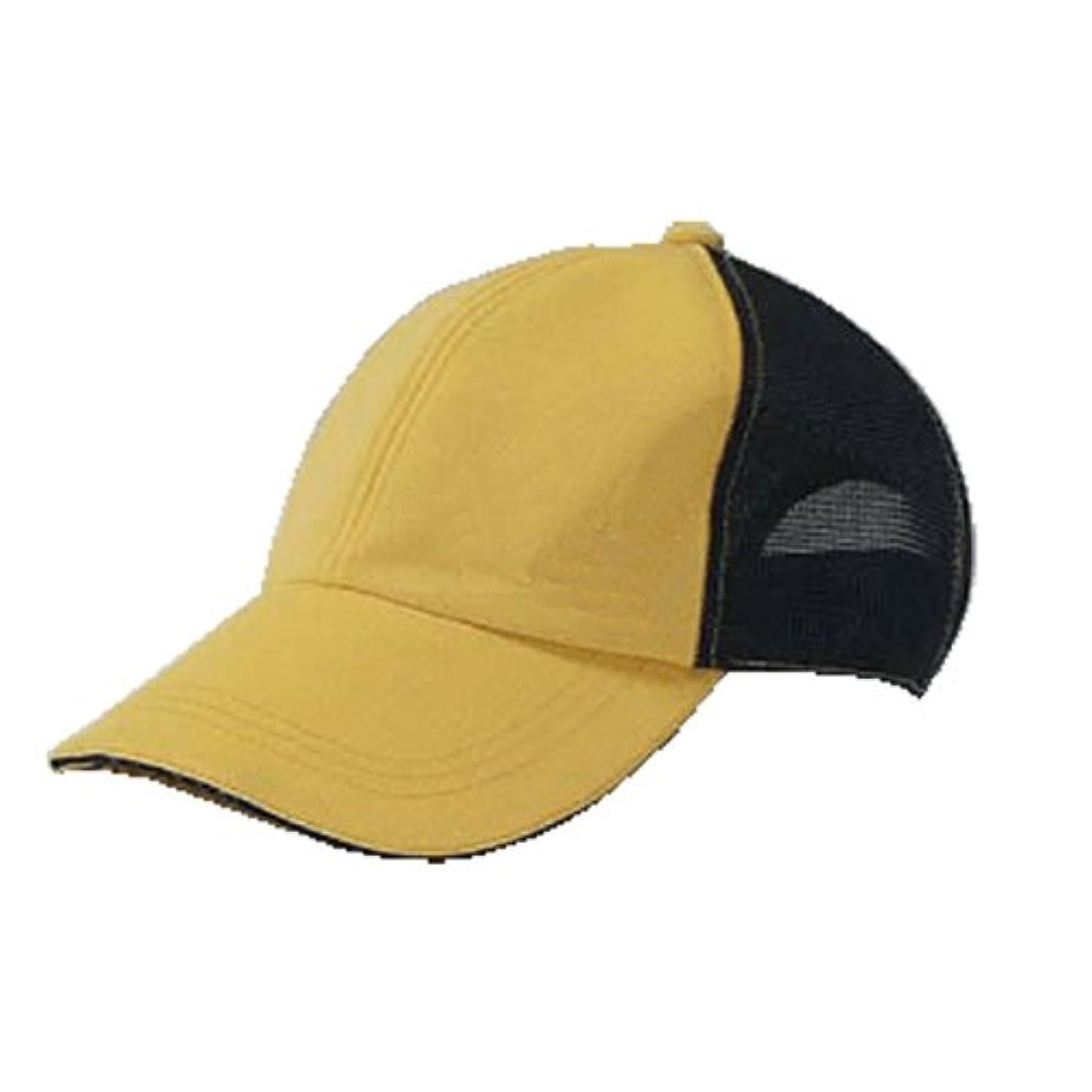 牛勇気のある情緒的LEDライト付き帽子 TERUBO メッシュタイプ 黄/黒