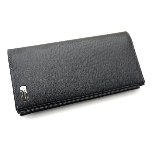 (フェラガモ)ferragamo メンズカード長財布・ブラック・66-7092 並行輸入品