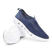 マリンシューズ 靴(青)ユニセックスウォーキングシューズ大きいサイズの水の靴の男性は、ウォーキングシューズ新ワタリアウトドア (色 : Blue, Size : US6)