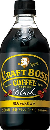 サントリー コーヒー クラフトボス 無糖ブラック 500ml×24本