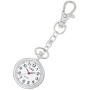 [フィールドワーク]Fieldwork 懐中時計 キーチェーンウォッチ アナログ表示 ホワイト DT111-1