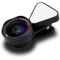 LIEQI LQ-035II 広角レンズ iphone スマホ レンズ セルカレンズ 自撮りライト 0.4-0.6x 広角レンズ 15x マクロレンズ 全機種対応 自撮り棒不要 iPhone Android タブレット (ブラック)