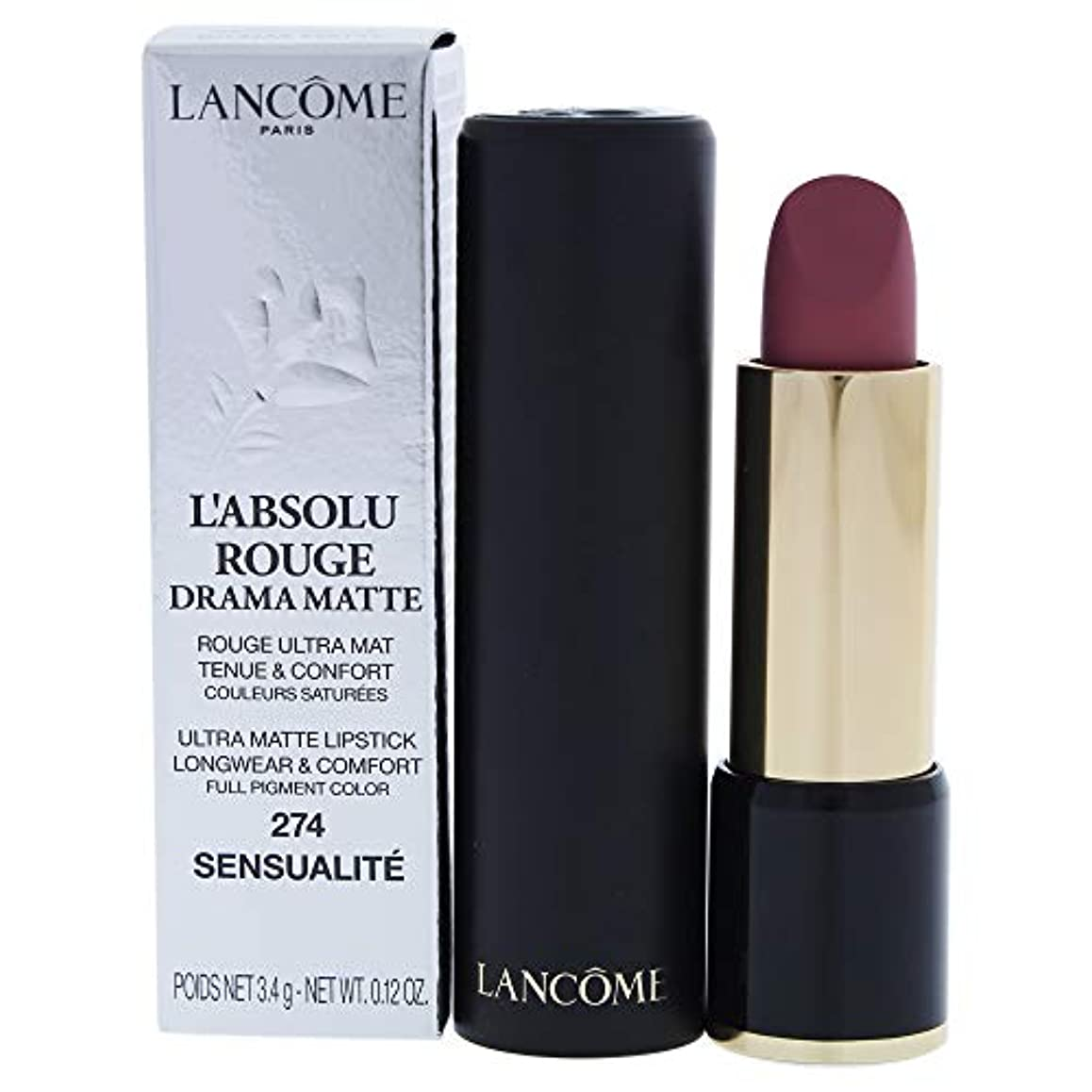 喜び敵意伝統ランコム L'Absolu Rouge Drama Matte Lipstick - # 274 Sensualit?L8021200 3.4g/0.12oz並行輸入品