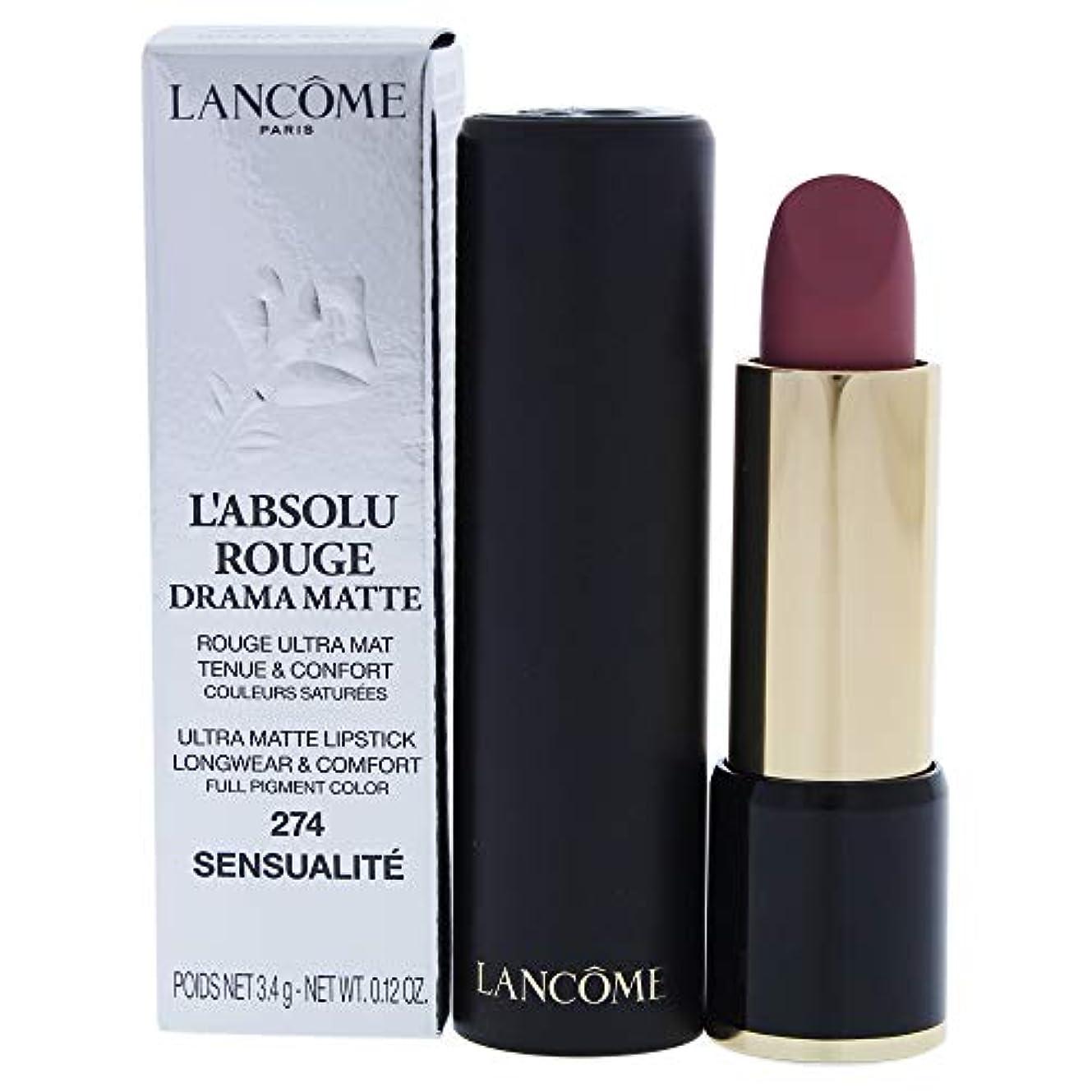ペック普遍的な始めるランコム L'Absolu Rouge Drama Matte Lipstick - # 274 Sensualit?L8021200 3.4g/0.12oz並行輸入品