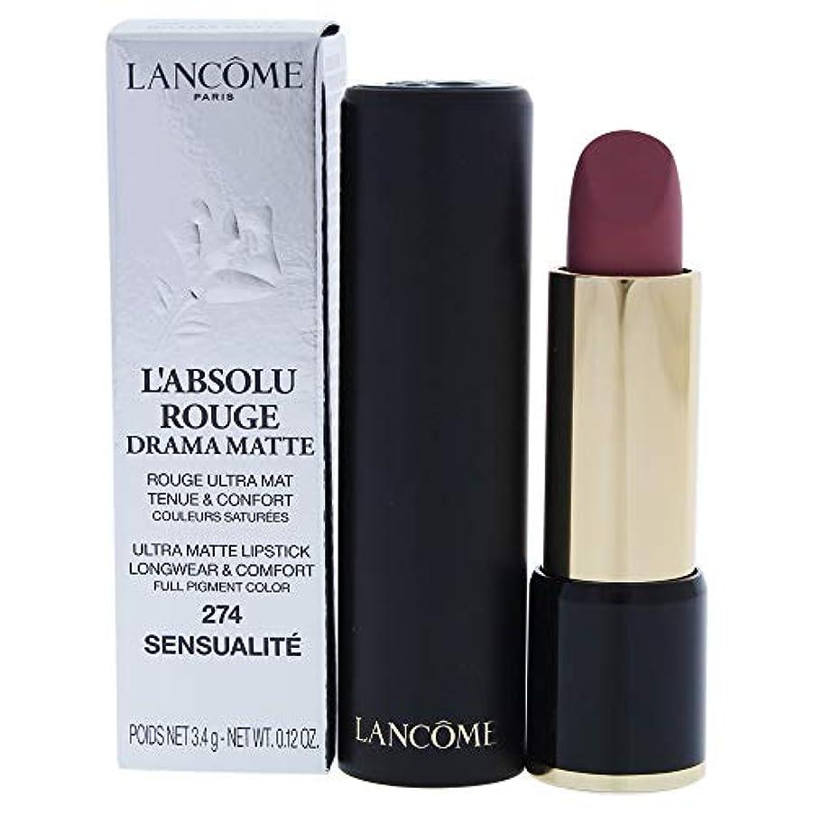 インカ帝国フラッシュのように素早くスワップランコム L'Absolu Rouge Drama Matte Lipstick - # 274 Sensualit?L8021200 3.4g/0.12oz並行輸入品