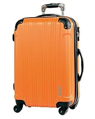 S型 オレンジ/メッシュQueendom TSAロック搭載 スーツケース キャリーバッグ (1~3日用) 超軽量 機内持込 国内/国際線持込可能