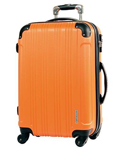 L型 オレンジ / メッシュQueendom TSAロック搭載 スーツケース キャリーバッグ 大型 (5?10日用)