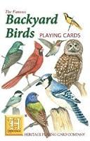 裏庭の鳥スタンダードポーカートランプデッキ、枢機卿からフクロウ、そしてHeritage Playing Cardによるその他多数の庭好きな鳥のすべてをフィーチャーしたデッキ。
