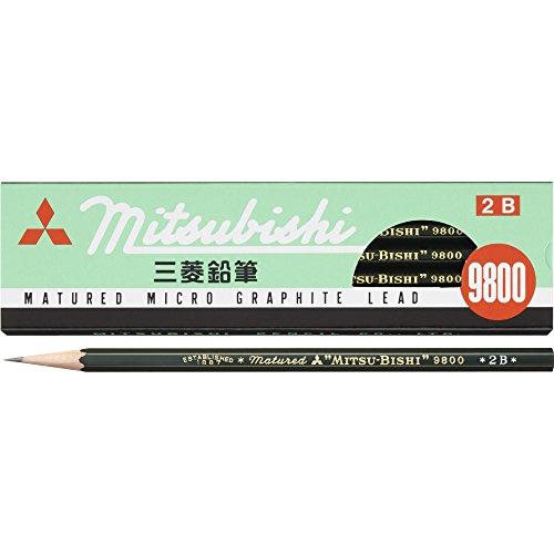 三菱鉛筆 鉛筆 9800 2B