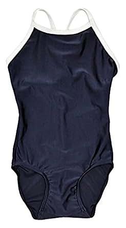(ラクア)LAQUA キッズ スクール水着 女の子 ワンピース水着 学校用水着 120cm ネイビー