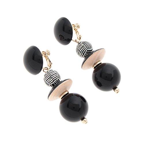 [해외](오족) OZOC 멀티 파트 스윙 귀걸이 14302665 00 블랙 (019)/(Ozoku) OZOC Multi Parts Swing Earrings 14302665 00 Black (019)