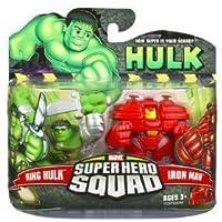 Incredible Hulk Movie Super Hero Squad 2-Pack King Hulk & [Hulk Buster] Iron Man
